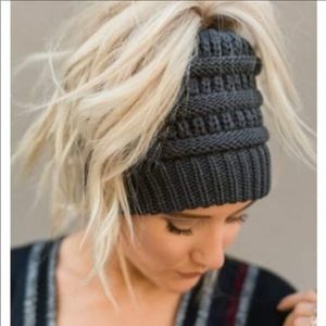 Messy bun beanie by CC